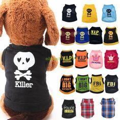 Pet Clothes Dog T-shirt Apparel Vest Costumes Summer Puppy Printed Coat Gift