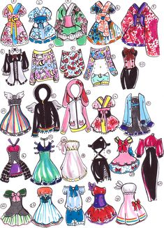 SOLD- Sailor Moon outfits by Guppie-Adopts on deviantART