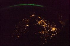 Ireland and Britain from space at night