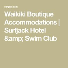 Get a taste of Hawaii's laid-back lifestyle at our Waikiki accommodation. Private lanais, comfortable bedding and local art deliver a unique experience. Oahu Vacation, Swim Club, Lanai, Bucket, Swimming, Amp, Boutique, Travel, Swim