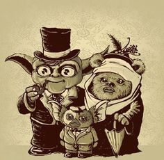 Funny pictures about Yoda + Ewok = ? Oh, and cool pics about Yoda + Ewok = ? Also, Yoda + Ewok = ? Star Wars Meme, Star Wars Art, Ewok, Gremlins, Gabe The Dog, Millenium, Cinema Tv, Humor Grafico, Geek Out