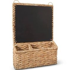 Smith & Hawken™ Woven Wall Organizer Decorative Basket with Chalkboard