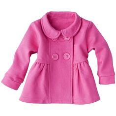 ZUTANOBLUE Newborn Girls' Long-sleeve Jacket Pink ($12) ❤ liked on Polyvore