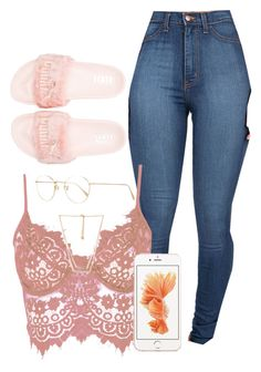 """Untitled #4"" by xoadiraxo on Polyvore featuring Puma, WithChic, Forever 21 and Oliver Peoples"