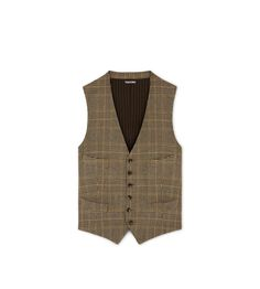 GRAND CHECK SHELTON WAISTCOAT | Shop Tom Ford Online Store