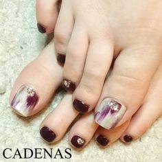 Nails Only, Love Nails, Pretty Nails, My Nails, Toe Nail Designs, Nail Polish Designs, Feet Nails, Pedicure Nails, Pedicures