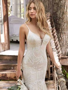 Maggie Bridal by Maggie Sottero Dress How To Dress For A Wedding, Wedding Dress Trends, Sexy Wedding Dresses, Bridal Dresses, Bridesmaid Dresses, Anna Campbell, Vintage Style Dresses, Nice Dresses, Girls Dresses