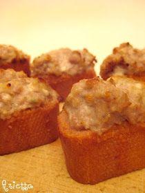 muffins, cookies e altri pasticci: Crostini salsiccia e stracchino