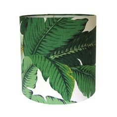 Custom Lamp Shade / Swaying Palms by Tommy Bahama in Aloe / Tropical Leafy Green / Lampshades / Beverly Hills Hotel / Made to Order (60.00 USD) by CruelMountain