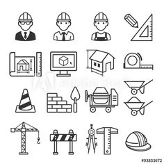 Download royalty-free Set of civil engineering icon design