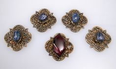 Five jewels from France, circa 1300, silver partial gilt