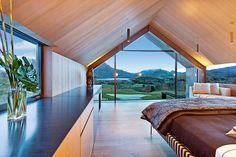An exclusive collection of deluxe holiday homes, private villas, boutique hotels and luxury lodges in one of NZ's favourite holiday destinations. Modern Bedroom Furniture, Modern Bedroom Design, Master Bedroom Design, Contemporary Bedroom, Bedroom Designs, Luxury Accommodation, Luxurious Bedrooms, Luxury Bedrooms, Bedroom Colors