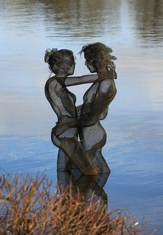 Nikki Taylor wire mesh sculpture. seriously just mind blowing!!