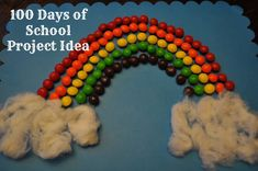 100 Days of School Project: Rainbow of Skittles!
