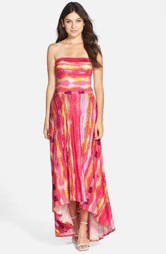 FELICITY & COCO Strapless Neon Print Maxi Dress (Regular & Petite) (Nordstrom Exclusive) | Nordstrom