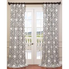96 Inch Girls Grey Color Twill Curtain Single Panel Black Geometric Pattern Window Drapes Kids Themed Energy Efficient Rod Pocket Casual Playful