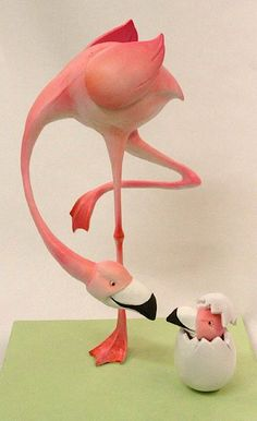 Flamingo cake - yes, it's a cake! How do they do that?