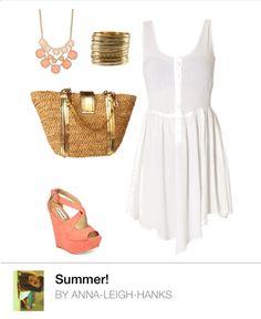 Woman's Fashion summer peach white gold