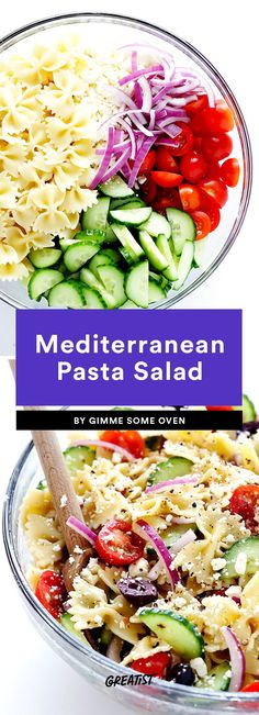 2. Mediterranean Pasta Salad #greatist https://greatist.com/eat/healthy-pasta-salad-recipes