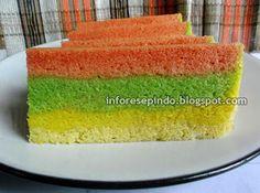 Resep Kue Bolu Kukus Pelangi| Resep Makanan Indonesia