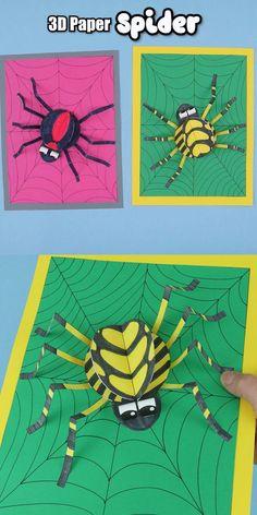 Fall Art Projects, School Art Projects, Kindergarten Crafts, Preschool Crafts, Art Activities For Kids, Art For Kids, Art N Craft, 3d Craft, Insect Crafts