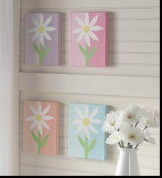 Daisy Flower Canvas Grouping