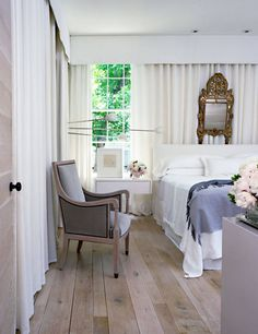 Stunning bedroom design featuring curtain walls | Betsy Brown Design