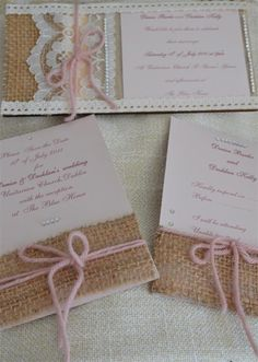 Shabby chic wedding stationery made by ecoweddings.ie