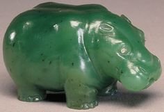 Faberge may have been best known for its Easter eggs. However, under Faberge's direction, the workshops produced a wide range of items, including dinner and tea services, frames for miniature portraits, and various animals like this charming hippo.