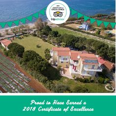We've been recognized with a 2018 Trip Advisor, Greece, Thankful, Mansions, House Styles, Beach, Frame, Greece Country, Picture Frame