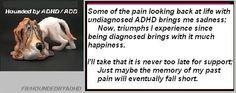 ADHD. Adult ADHD. Hounded by ADHD. FB/HoundedbyADHD