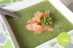 foodblogswap: broccolisoep met zalm