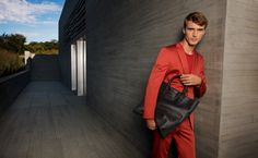 Architectural inspiration for clean modern tailoring and new bags in rich leather #thisisboss