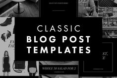Blog Post + Social Media Templates 3 by White Oak Creative on @creativemarket