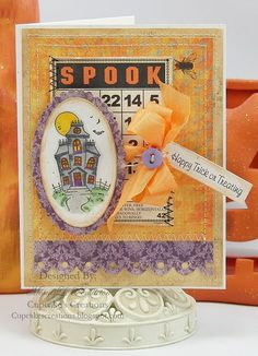 #justrite Halloween Card designed by Mona Pendleton