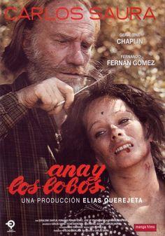 Ana y los lobos.  Carlos Saura. Ana (Geraldine Chaplin), una joven inglesa, es contratada como institutriz de unas niñas que viven en una mansión con sus padres, tíos y abuela. Ana acaba teniendo problemas con los miembros adultos de la familia, que se sienten atraídos por ella.