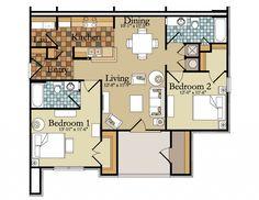 Antique Two Bedroom Apartments Floor Plans