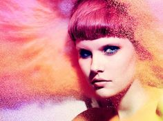 colors colorful multi colored powder make up pink short hair Photographer John Rankin {Part 2}