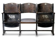 Old theatre cinema seats reclaimed salvage Repinned by www.silver-and-grey.com