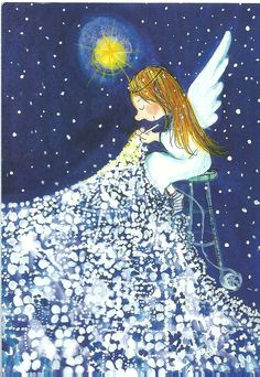 Knitting illustration paintings Ideas for 2019 Art And Illustration, Illustrations, Seraph Angel, Art Fantaisiste, Angels Among Us, Guardian Angels, Angel Art, Whimsical Art, Christmas Angels