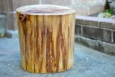 I fell in love with the stump side table from West Elm, just not with the big price tag. Tree Stump Side Table, Contemporary Plays, Brick Fireplace Makeover, Wood Curtain, 11. September, Natural Home Decor, Rustic Farmhouse Decor, Decorative Items, Restore