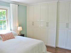 IKEA Pax wardrobes with applied crown molding ...Niesz Vintage - eclectic - bedroom - cincinnati - Kimberly Niesz