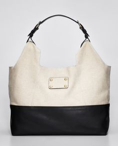 Ann Taylor - AT New Arrivals - Linen and Leather Hobo Bag