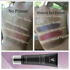 It's a crime not to prime just look at the difference, who doesn't want a bolder, longer lasting eye look?! #eyeprimer #mineralbased #makeupthatsgoodforyourskin #younique CLICK TO BROWSE