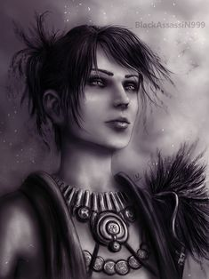 Morrigan by BlackAssassiN999.deviantart.com on @deviantART Apologies to the Alistair fangirls, but Morrigan and Zevran are both way more interesting than some Templar wannabe.