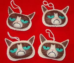 Come on Grumpy Cat, just try and crack a happy smile . . . you can do it!
