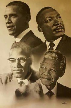 Nelson,  Martin, Malcolm,  & Obama
