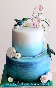 I love the ombre! Maybe I should put a hummingbird on my hummingbird cake next Easter