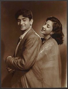 Raj Kapoor and Nargis - c1950's