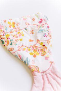 Image of 'Mini Me' Designer Floral Fabric DOLL Size Mermaid Tail Blanket Bag